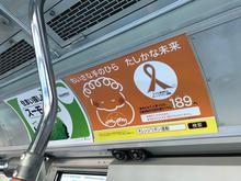 東急バス全車にオレンジリボン啓発ポスター掲出